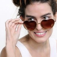 South Beach Yoko Heart Sunglasses