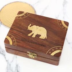 Personalised Wooden Elephant Box