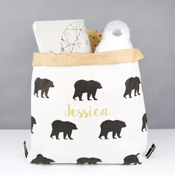 Personalised Small Christmas Bear Sack