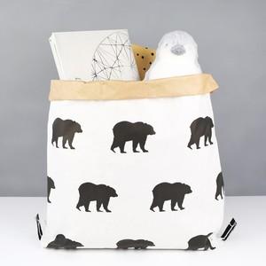 Small Bear Print Christmas Santa Sack
