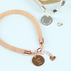 Ball Chain Bracelet with Disc Charm