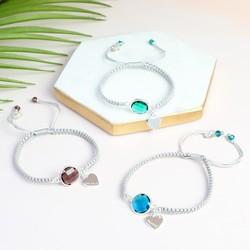 Personalised Birthstone Friendship Bracelet with Name