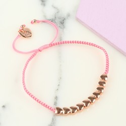 Children's Rose Gold Hearts Friendship Bracelet