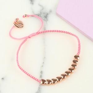 Children's Rose Gold Hearts Friendship Bracelet
