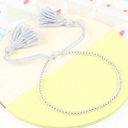 Dainty Links Star Bracelet in Grey & Silver