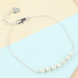 Freshwater Pearl Silver Chain Bracelet