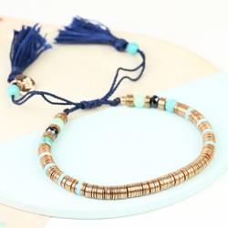 Rose Gold Boho Tassel Bracelet