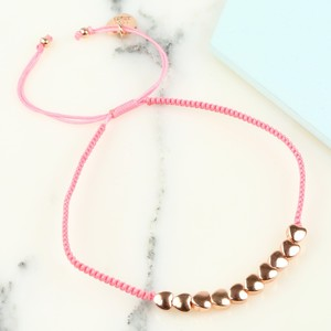 Rose Gold Hearts Friendship Bracelet