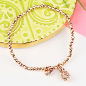 Rose Gold Pineapple Beaded Bracelet
