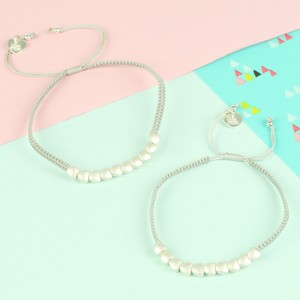 Mother and Child Silver Hearts Friendship Bracelets