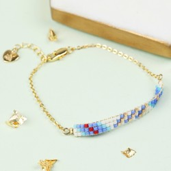 Woven Bead Chain Bracelet