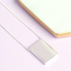 Longline Silver Ingot Necklace