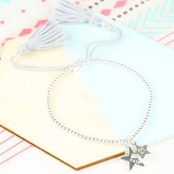 Personalised Double Star Dainty Links Star Bracelet