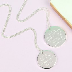 Personalised Hand-Stamped Silver Disc Necklace