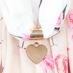 Rose Gold Heart Scarf Ring