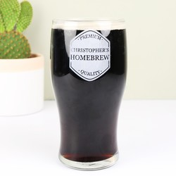 Personalised 'Homebrew' Engraved Pint Glass