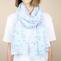 Pastel Blue Unicorn Scarf