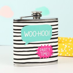 Happy Jackson 'Woo-Hoo' Hip Flask