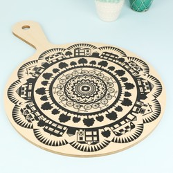 Wild and Wolf Wooden Paddle Chopping Board
