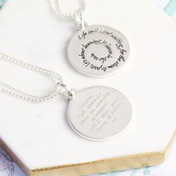 Personalised 'Dance In The Rain' Meaningful Quote Necklace