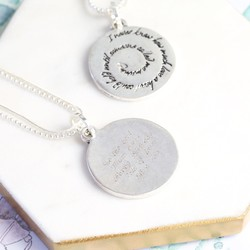 Personalised 'Mummy' Meaningful Quote Necklace