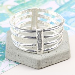 Personalised Stacked Bar Stretch Bangle