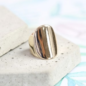 Gold Oval Ring - Large