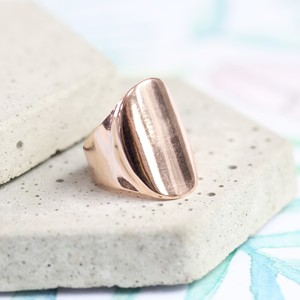 Rose Gold Oval Ring - medium