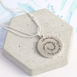 'Dance In The Rain' Meaningful Quote Necklace