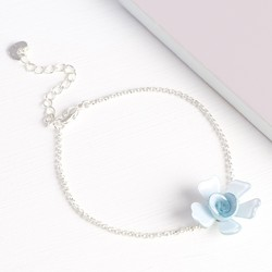 Acrylic Single Rose Bracelet in Ice Blue