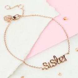 Rose Gold 'Sister' Bracelet
