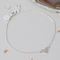 Shiny Silver Heart Bracelet