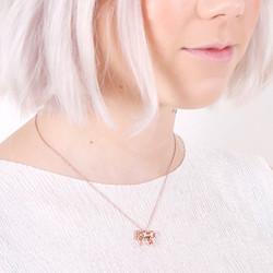 Rose Gold Unicorn Pendant Necklace