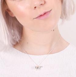 Silver Polar Bear Pendant Necklace