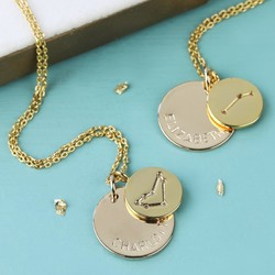 Personalised Gold Constellation Pendant Necklace
