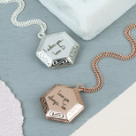 Personalised Long Hexagonal Locket