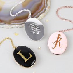 Personalised Oval Locket Necklace