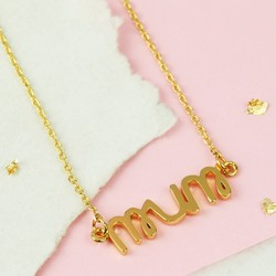 Gold Mum Necklace