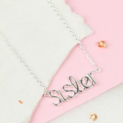 Silver 'Sister' Necklace