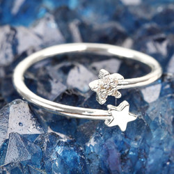 Adjustable Double Star Ring
