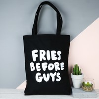 Ban.do 'Fries Before Guys' Canvas Tote Bag