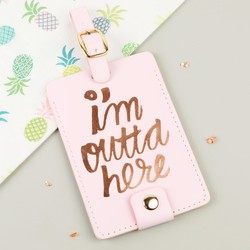 Ban.do 'I'm Outta Here' Pink Luggage Tag