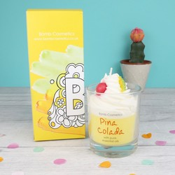 Bomb Cosmetics 'Pina Colada' Scented Piped Candle
