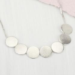 Silver Discs Necklace