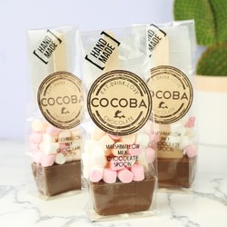 Cocoba Set of 3 Marshmallow Milk Hot Chocolate Spoons
