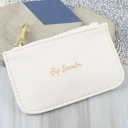 'Big Spender' Coin Purse in White