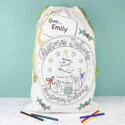'Colour Your Own' Christmas Delivery Sack