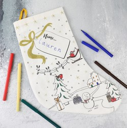 'Colour Your Own' Christmas Stocking