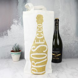 Glittery Prosecco Bottle Gift Bag