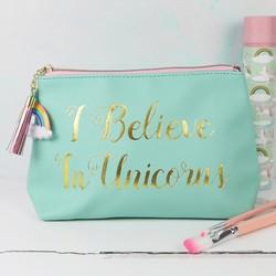 'I Believe in Unicorns' Make Up Bag